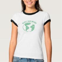 Mother Earth short sleeve ringer shirt womens