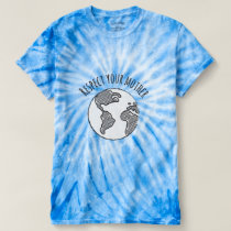 Mother Earth tie-dye shirt womens