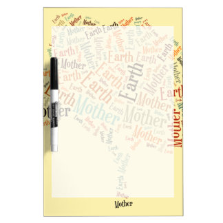 Mother Earth Word Cloud in Shape of Tree Dry Erase Board