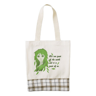 Mother Earth Zazzle HEART Tote Bag