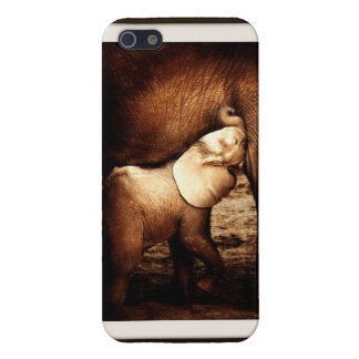 Mother Elephant & Nursing Calf Cell Phone Case