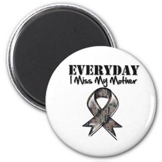 Mother - Everyday I Miss My Hero Military 2 Inch Round Magnet