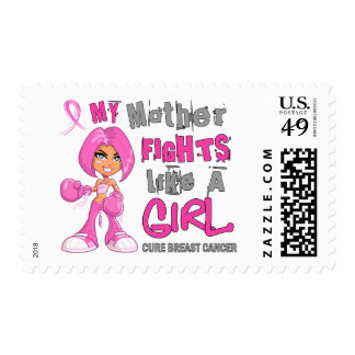 Mother Fights Like Girl Breast Cancer 42 9 png Postage