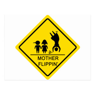 Mother Flippin' Yield Sign Postcard