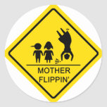 Mother Flippin' Yield Sign Sticker