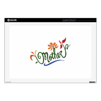 """MOTHER FLOWERS 17"""" LAPTOP DECAL"""