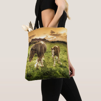 Mother & Foal Horse Tote Bag