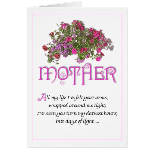Mother for Mothers Day ...All My Life... Greeting Card