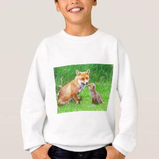 Mother fox and cub sweatshirt