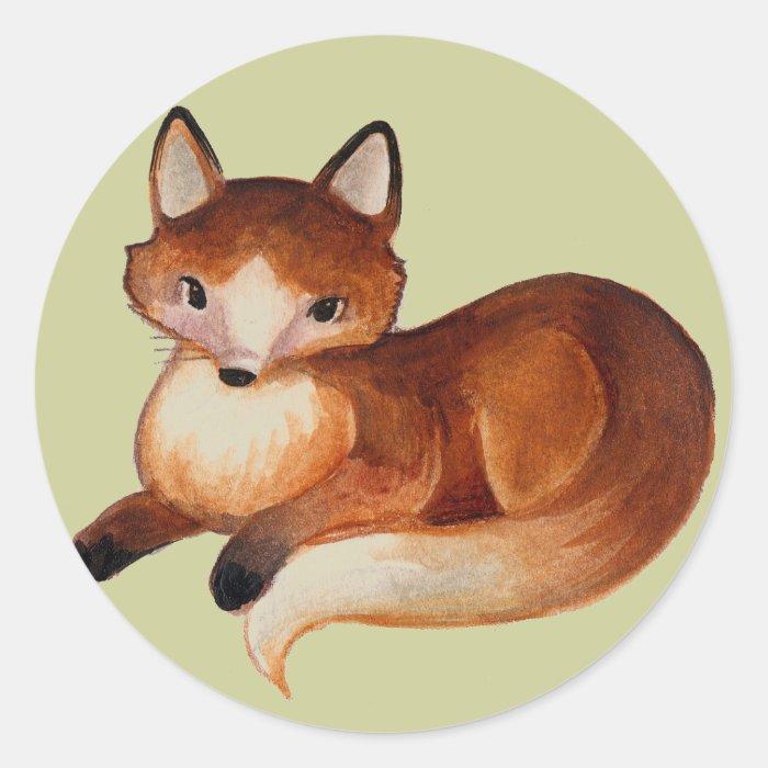 Mother Fox Classic Round Sticker