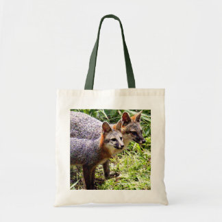 MOTHER FOX WITH KIT CANVAS BAG