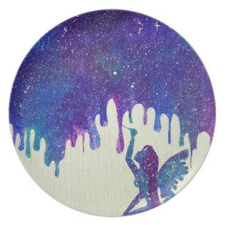 Mother Galaxy Melamine Plate