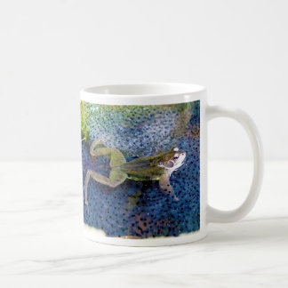 Mother Garden Frog in a Pond of her Frogspawn Coffee Mug