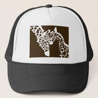 Mother Giraffe and Baby Trucker Hat