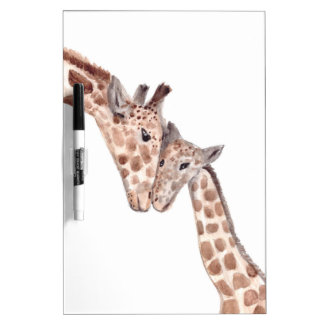 Mother giraffe with baby dry erase board