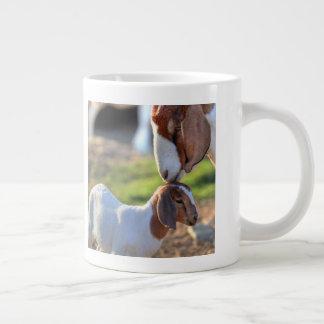 Mother Goat & Baby Large Coffee Mug