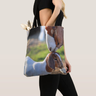 Mother Goat & Baby Tote Bag