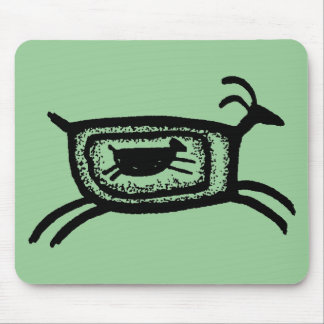 Mother goat-BW Mouse Pad