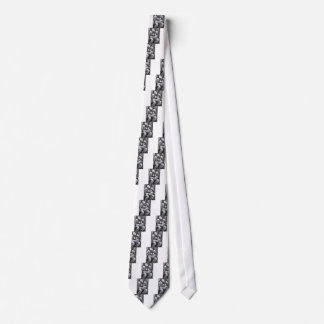 Mother Goddess (Black and white surrealism ) Tie