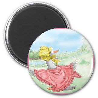 Mother Goose 2 Inch Round Magnet