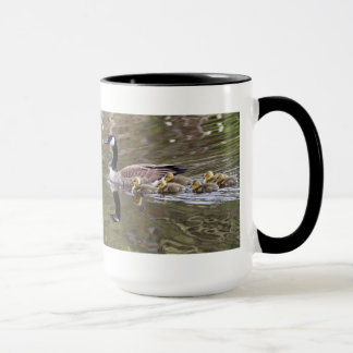 Mother Goose and Baby Geese Photo Mug