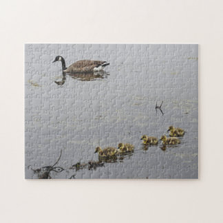 Mother Goose and Goslings puzzle