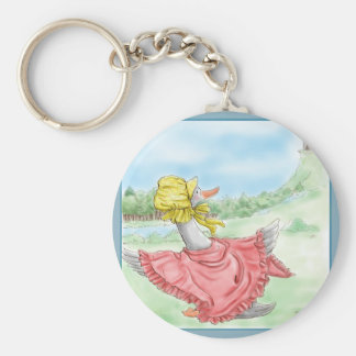 Mother Goose_BlueFrame Basic Round Button Keychain