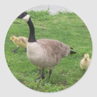 Mother Goose Classic Round Sticker