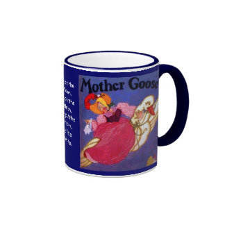 Mother Goose drinking cup Ringer Coffee Mug