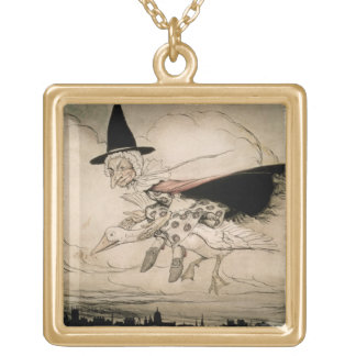Mother Goose, frontispiece of 'Mother Goose The Ol Necklace