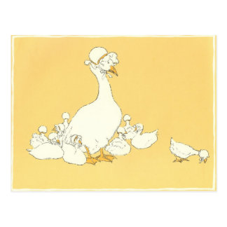 Mother Goose & Her Little Ones Postcard