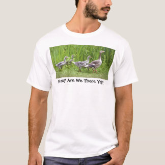 Mother goose leading goslings in the wild T-Shirt