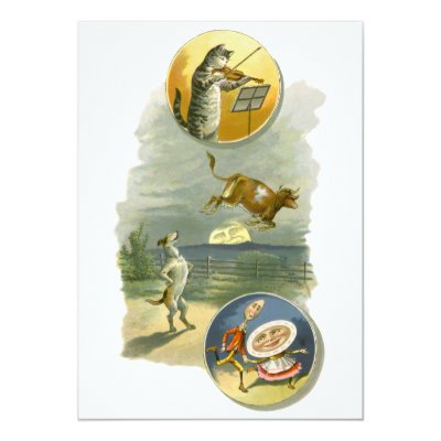 Hey diddle diddle the cow jumped over the moon invitation zazzle filmwisefo