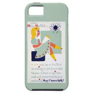 Mother Goose Nursery Rhyme Little Miss Muffet WPA iPhone 5 Cases
