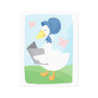 Mother Goose Reading Nursery Rhyme Canvas Art
