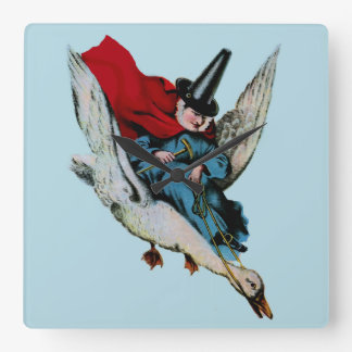 Mother Goose Square Wall Clock