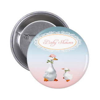 Mother Goose wearing Bonnet & Glasses with Baby Pinback Button