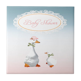 Mother Goose wearing Bonnet & Glasses with Baby Tile