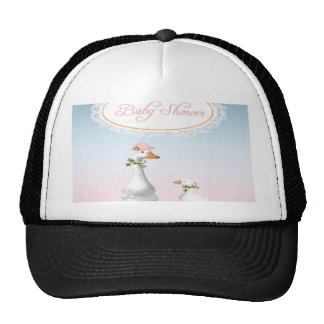 Mother Goose wearing Bonnet & Glasses with Baby Trucker Hat
