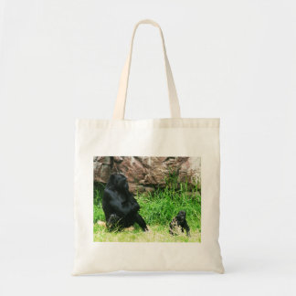 Mother Gorilla Watching Her 8 Month Old Baby Boy Bags