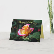 Mother Happy Birthday Red, Yellow and White Rose Card