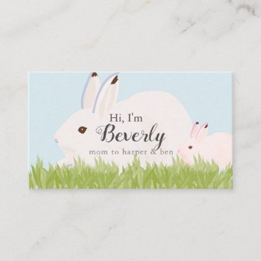 Mother Hare & Baby Hare Bunny Mommy Business Card