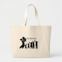 Mother Has To Fight For Her Kids Large Tote Bag