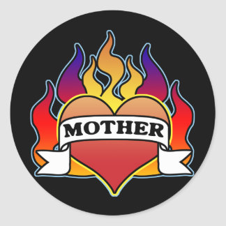 Mother Heart Tattoo Mother's Day Sticker