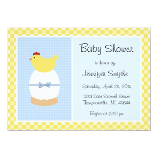 Mother Hen and Egg Baby Shower Invitations