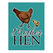 Mother Hen Postcard