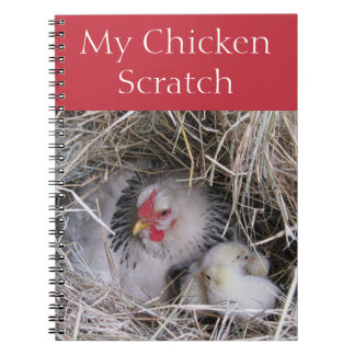 Mother Hen with New Chicks Notebook