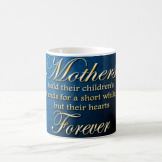 Mother hold their children's hand coffee mug