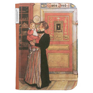 Mother Holding Baby in the Kitchen Case For Kindle