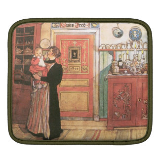 Mother Holding Baby in the Kitchen iPad Sleeves